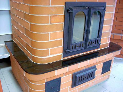Печь с дверцей со стеклом