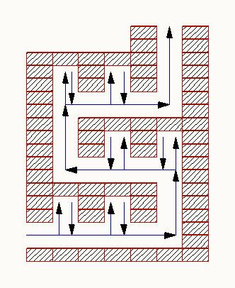 Печь с горизонтальными каналами и тепловыми карманами
