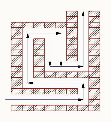 Печь с комбинированной системой дымообаротов