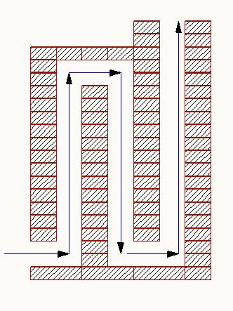Печь с вертикальными каналами