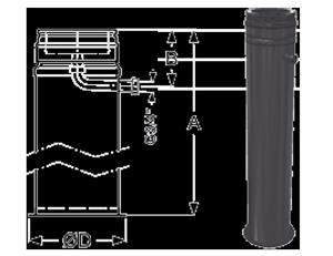 Напольный элемент с отводом конденсата Schiedel Permeter