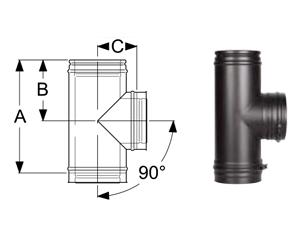 Тройник-90 дымохода Schiedel Permeter