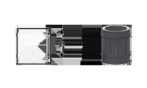 Элемент трубы 250 мм Schiedel Permeter