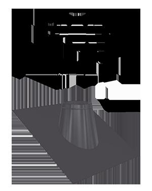 Проходы через крышу (без манжеты от дождя)