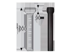 Переходник Топка - PM25 1000 мм д