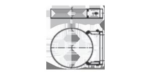 Раздвижной настенный хомут 60-100 мм
