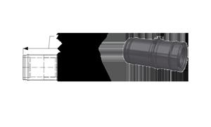 Элемент трубы раздвижной Schiedel Permeter